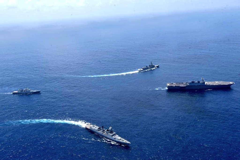 India Navy and Japan Maritime Self-Defence Force Conduct Bilateral Naval Exercise in Indian Ocean