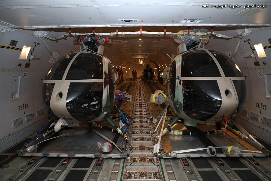 Lebanon Air Force Receives Helicopters Six MD530G Light Attack Helicopter
