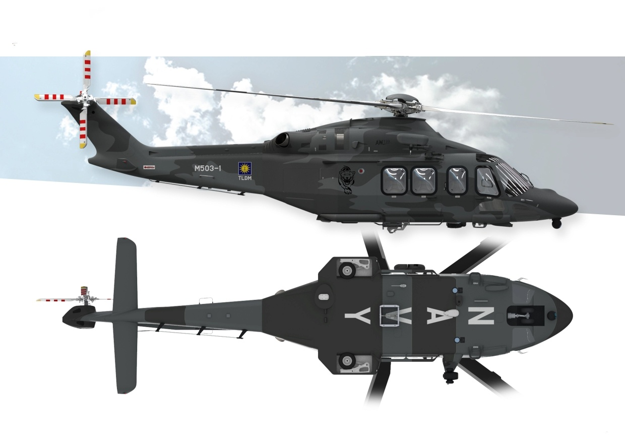 Royal Malaysian Navy AW139 Maritime Utility Helicopter (MUH)