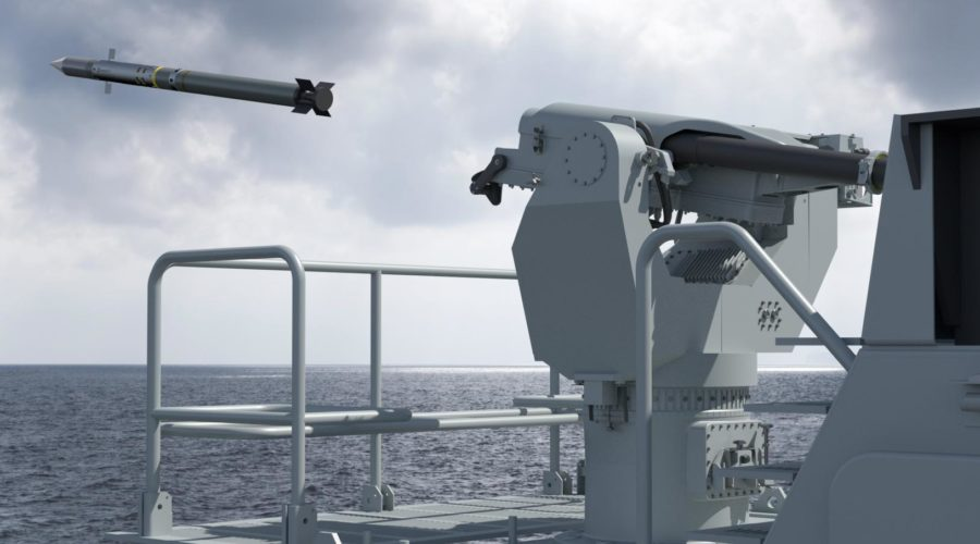 MBDA Simbad-RC firing a Mistral surface-to-air missile (SAM)