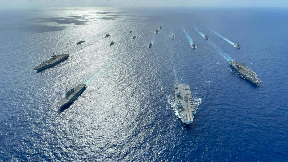 Multiple Allied Carrier Strike Groups Operate Together in the Philippine Sea
