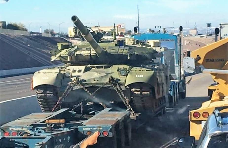 Ukraine Company Ukrspetsexport Delivers T-84 Oplot Main Battle Tank to US