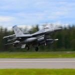 USAF F-16 launches