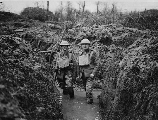 Two men in WW1 trench