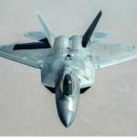 F-22 Raptor before refueling