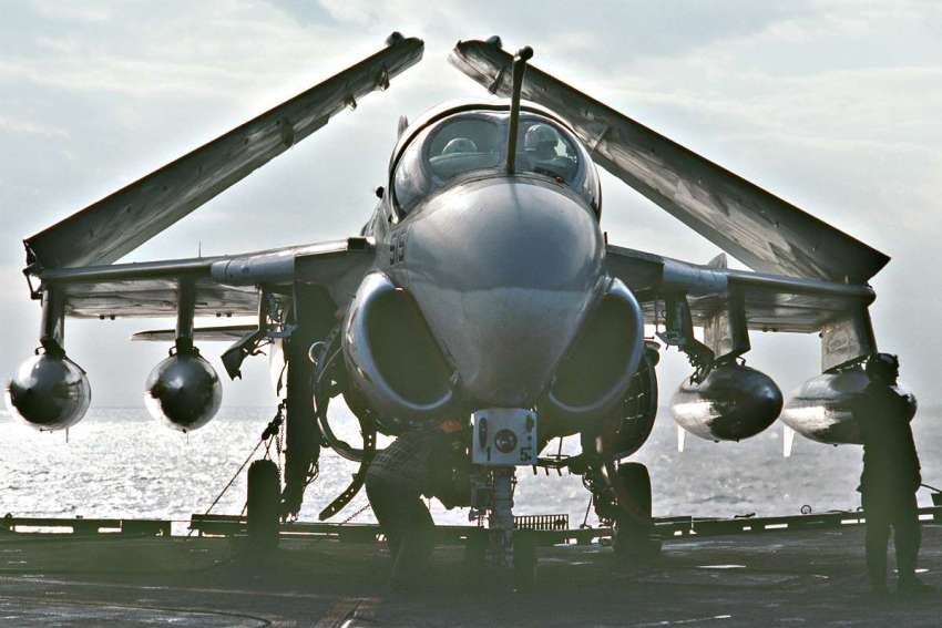 A-6 Intruder wings folded