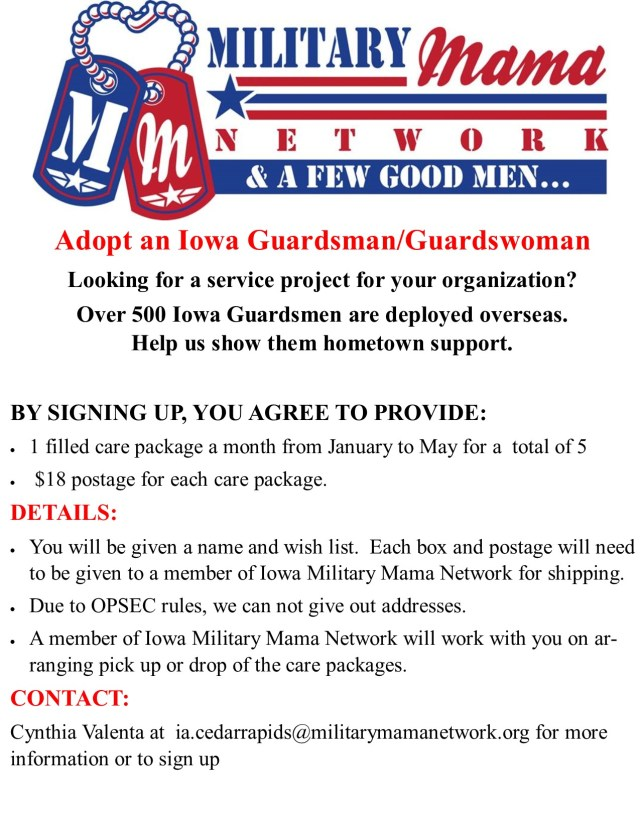 organization care package flyer