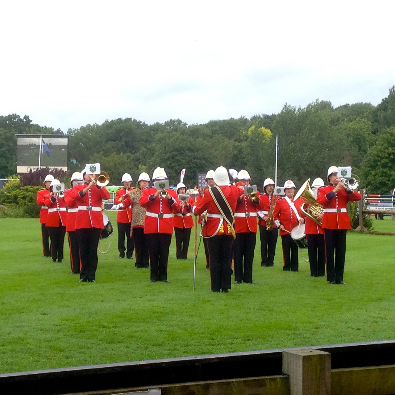 Military Marching Band at the Large Events