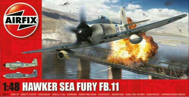 """Adequate is the word: Airfix's """"new tool"""" 1/48 Sea Fury."""