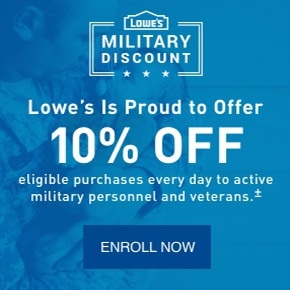 Lowe's military discount