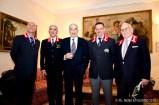 Da sinistra: Ernesto Tiraboschi pres. reg. Lazio ANGS, Angelo Caporali, gen. Mario Buscemi, Irridio Palomba pres. sez. Anzio ANGS e Amedeo Rossi.