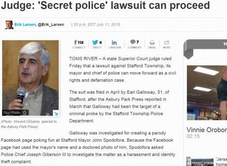 SECRET POLICE LAWSUIT TO PROCEED
