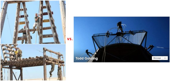 obstacle tower vs rappelling