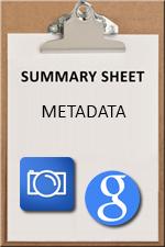 SUMMARY SHEET - metadata