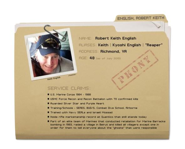 Robert Keith English - Dossier copy