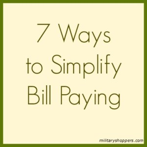 A great post listing 7 ways to simplify bill paying, which you can start today.