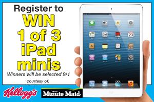 Win an iPad Mini through Kelloggs and Minute Maid