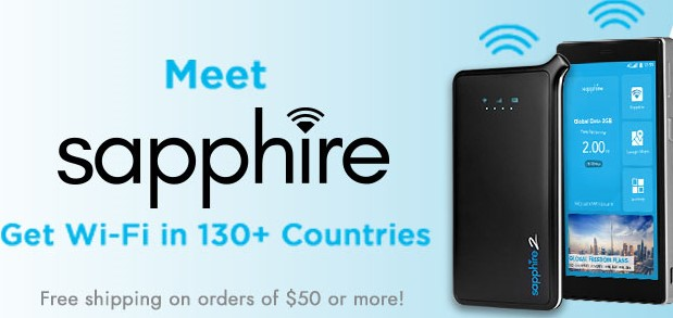 Connect on the go with Sapphire Portable Hotspots