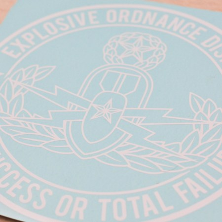 Master EOD Initial Success or Total Failure vinyl decal