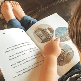 Daddy Left With Mr Army being read during deployment