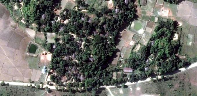 Foto desa sebelum dihancurkan oleh militer Myanmar. Foto: hrw.org