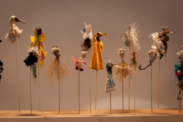 Sirius Passet -installation with puppets, 2014