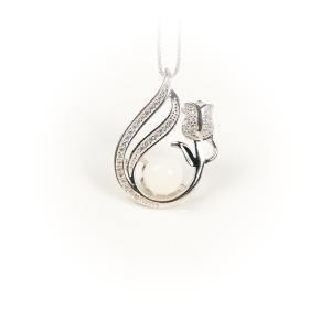 Halskette Perlentulpe