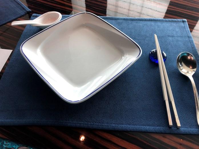 チャイナブルー コンラッド東京 テーブルセット