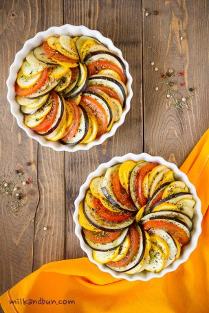 Vegetable tian-French dish