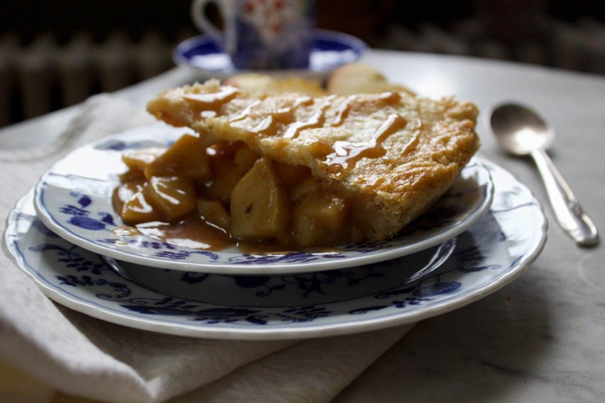 A fat slice of apple pie