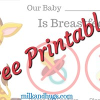 Free Breastfeeding Plan Bassinet Sign