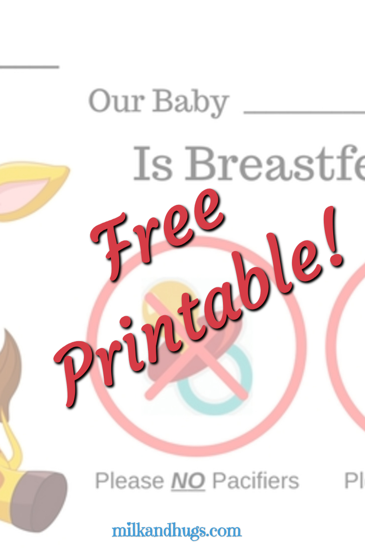 Do you need a Free Breastfeeding Plan Bassinet Sign for your facility delivery? Here are two free PDF versions you can print and use