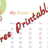 How to help kids learn to clean their rooms – Simple, FREE Chore Chart!