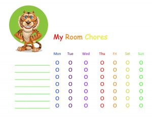 How to Help Kids Learn To Clean Their Rooms - FREE Printable Simple Chore Chart