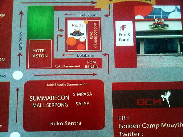 golden camp muay thai map