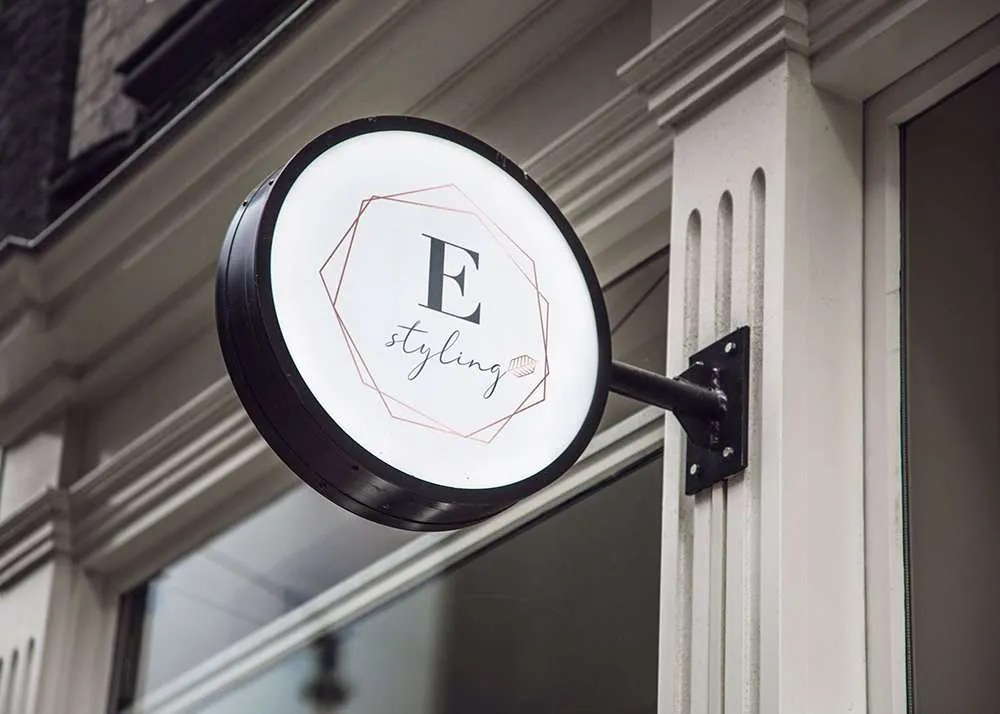 E_Styling_Shop_Sign