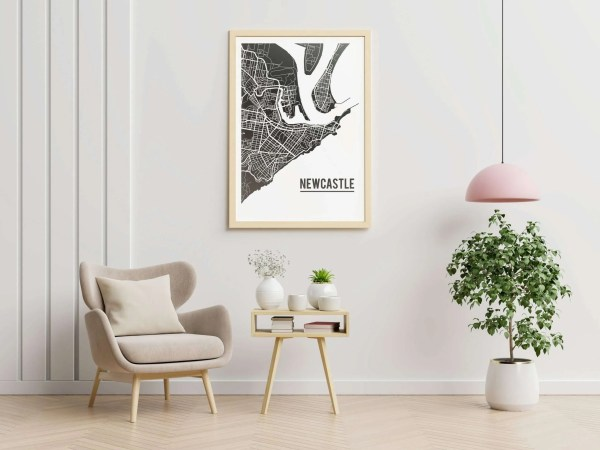 Newcastle Map Poster
