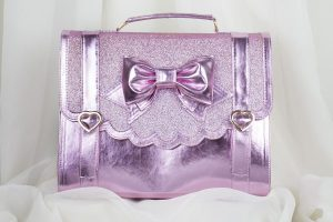 Cotton Candy Feet Frilly Academy 3-Way Bag Metallic Pink w/ Glitter