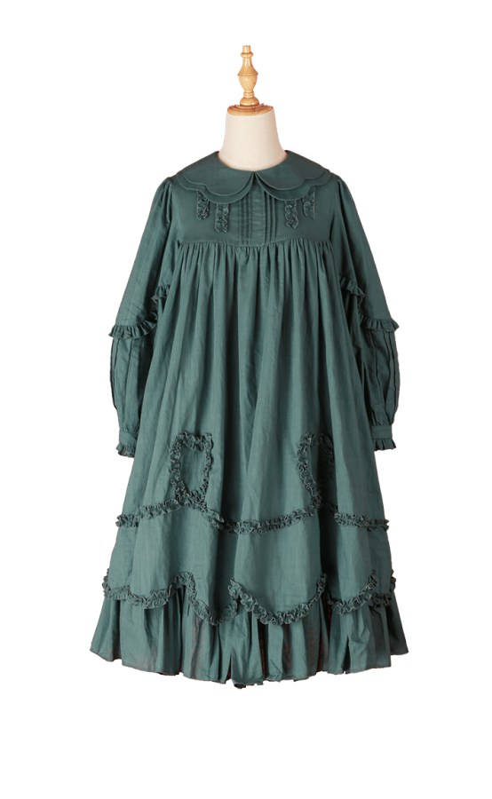Crucis Southern Cross Hanako Long-Sleeved Dress OP Green