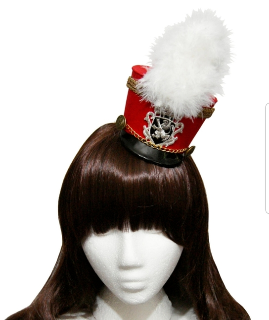 SheenasBellaBows Marching Band Mini Hat Wine