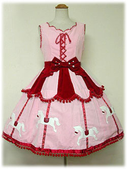 Angelic Pretty Carnival JSK Re-Release Pink x Red