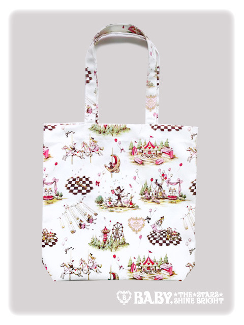 Baby, the Stars Shine Bright Alice in Fun Fair Tote Ivory