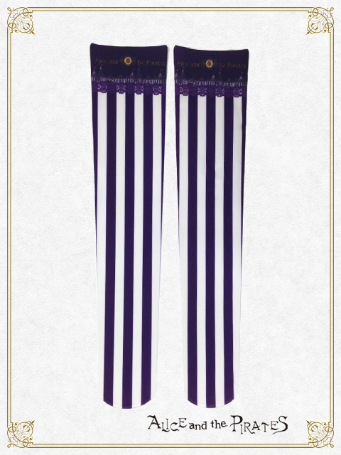 Alice and the Pirates Circus Tent Stripe OTKs Purple
