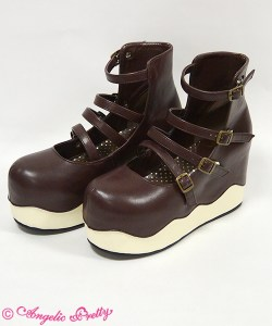 Angelic Pretty Melty Chocolate Shoes Brown x Cream