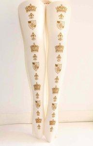 Teja Jamilla Gold Crown Tights Ivory
