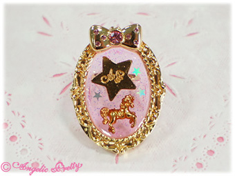Angelic Pretty Night Carnival Ring Pink