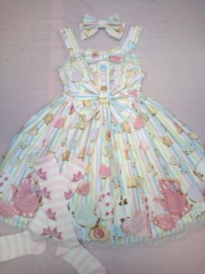 Angelic Pretty Wonder Cookie Switching JSK White