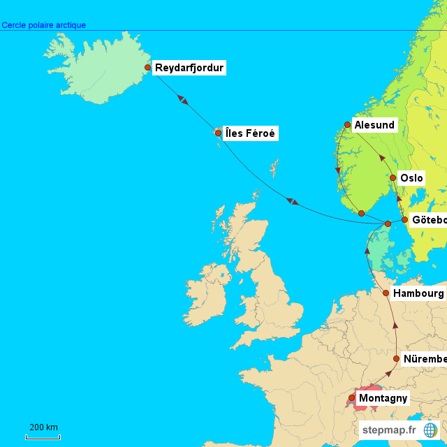 A Carte Danemark