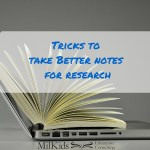 Tricks to Take Better Notes for Research