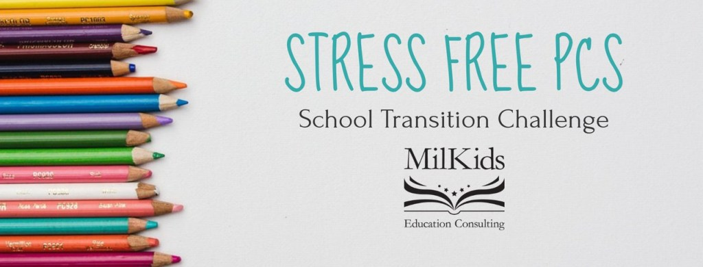Join the Stress Free PCS School Transition Challenge!